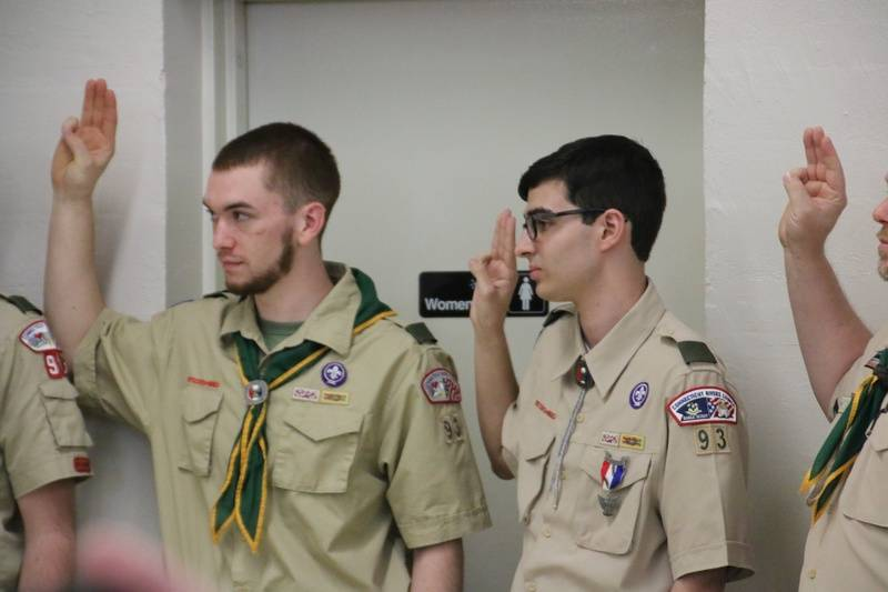 Eagle Scouts in Attendance