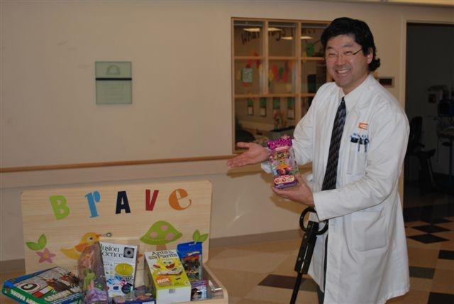 Dr Chang checks it out.