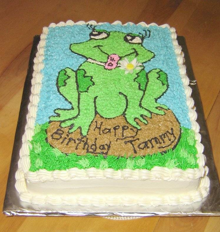 Silly Frog Cake