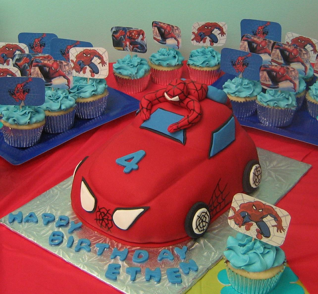 Spiderman and Car