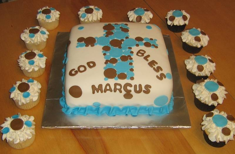 Communion Cake with Cross