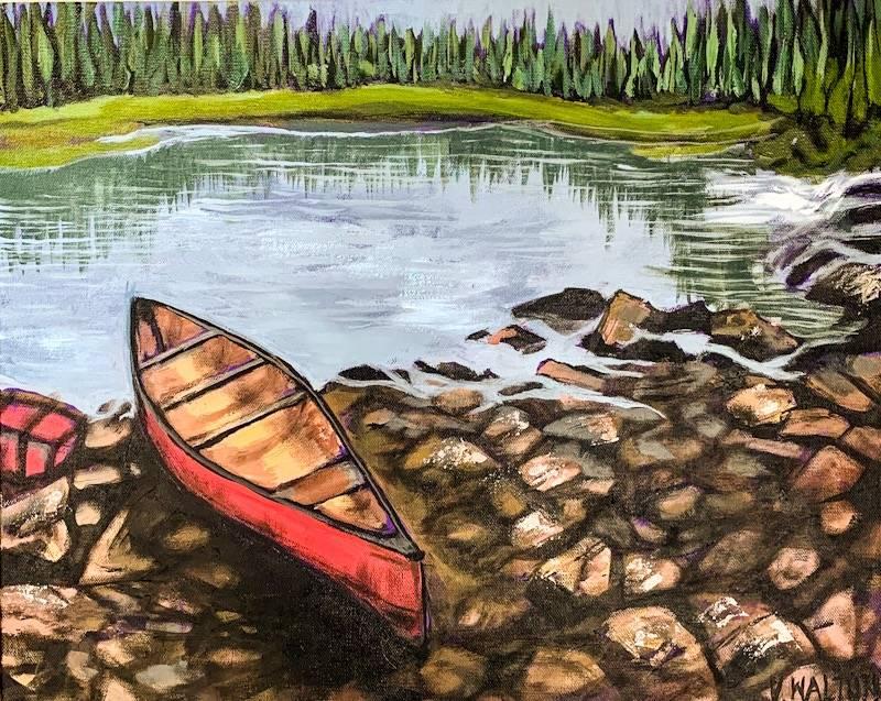 Canoe On Petawawa River
