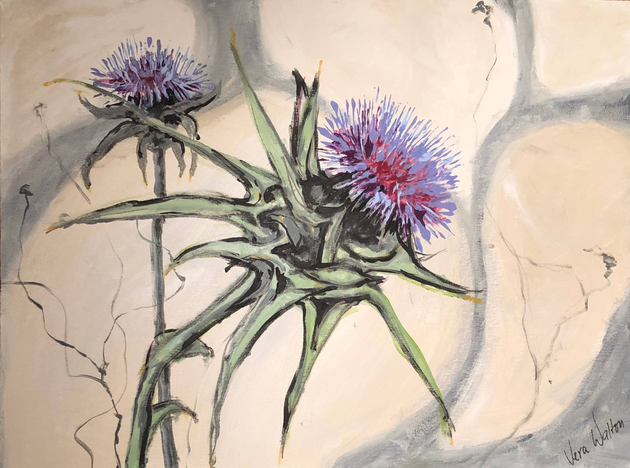 Lonely Thistle Thriving