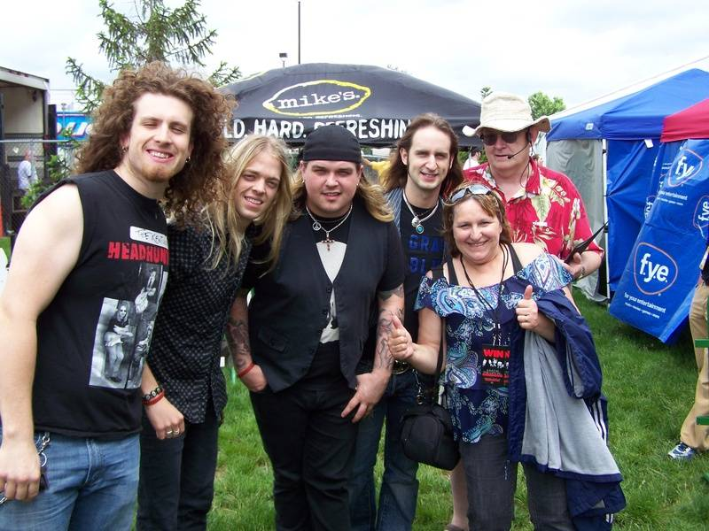 My wife and I at Rock on the Range 2009