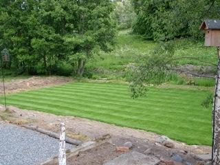 Turf laid @ Crofts Farm house Glenmuick