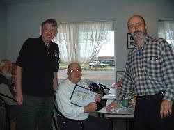 LtoR: Earl Smith VE6NM (SK), Johnny Colson VE1JJC (SK) and Jim VE1JBL