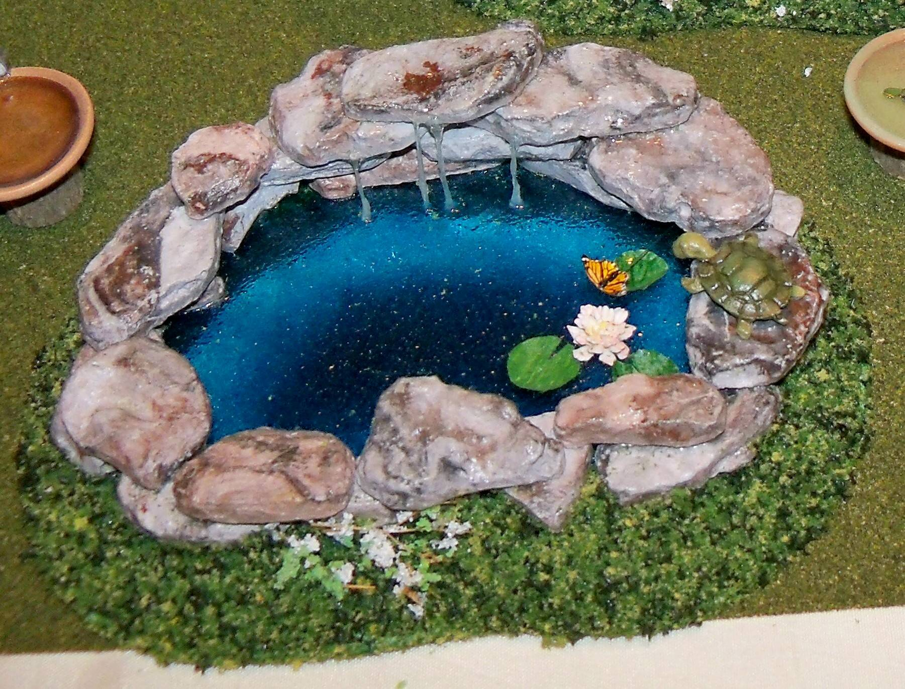 A gentle waterfall creates serenity in the landscape ... |Gentle Waterfall Pond