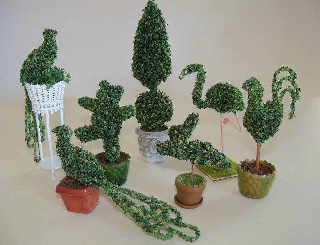 An assortment of topiaries