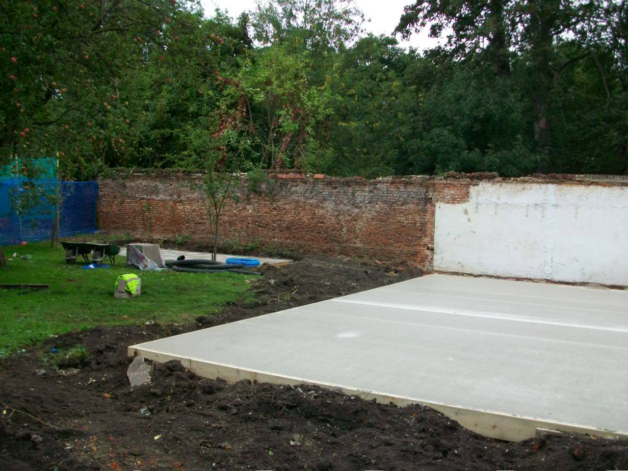 The foundations go in