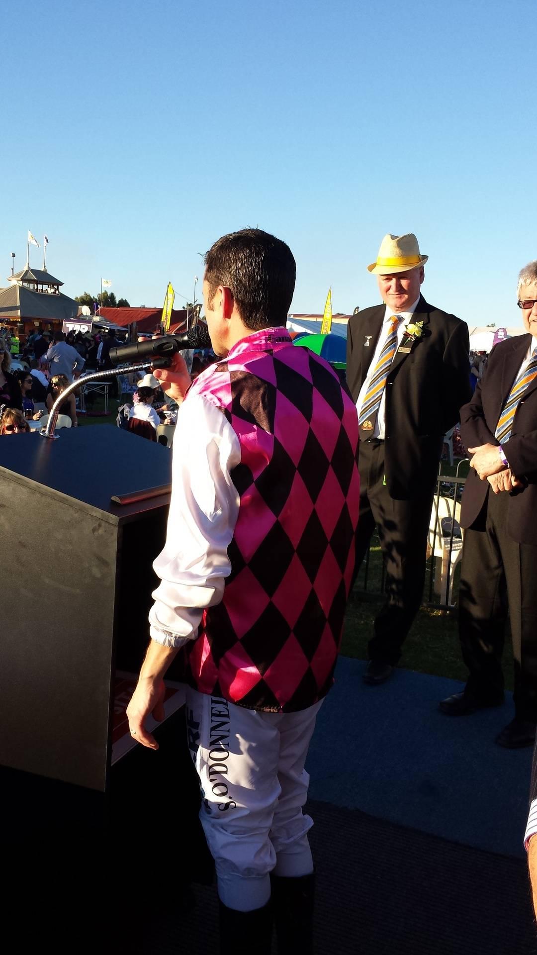 Shaun's winning jockey speech