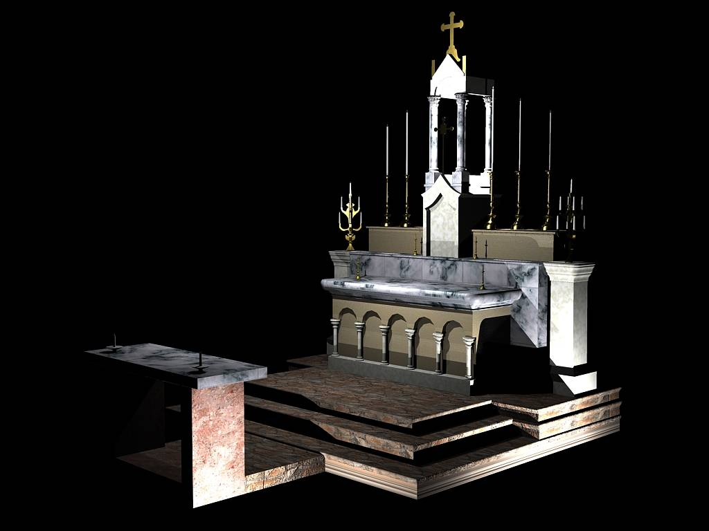 3D rendering of Altar (complete isometric view)