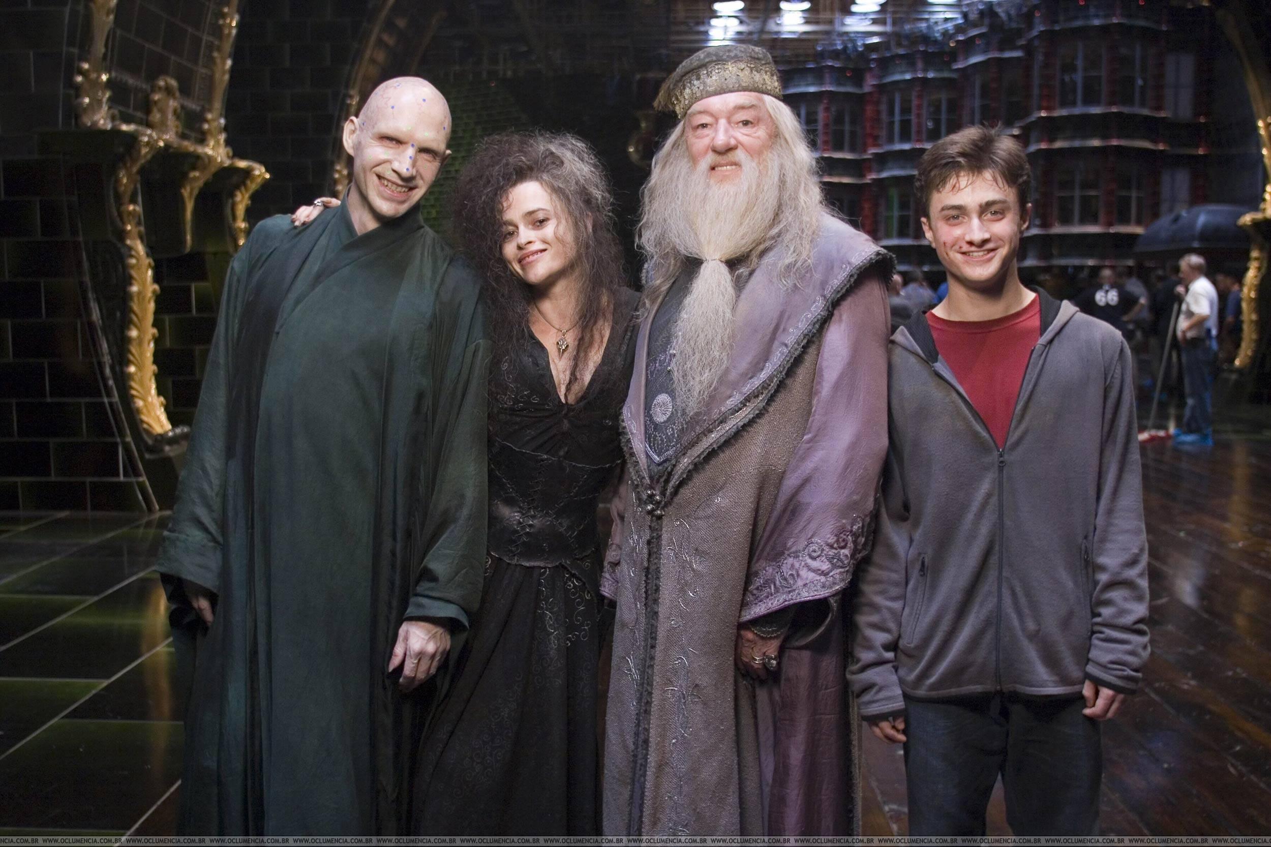 Harry Potter, Dumbledore,Bella and Voldemort