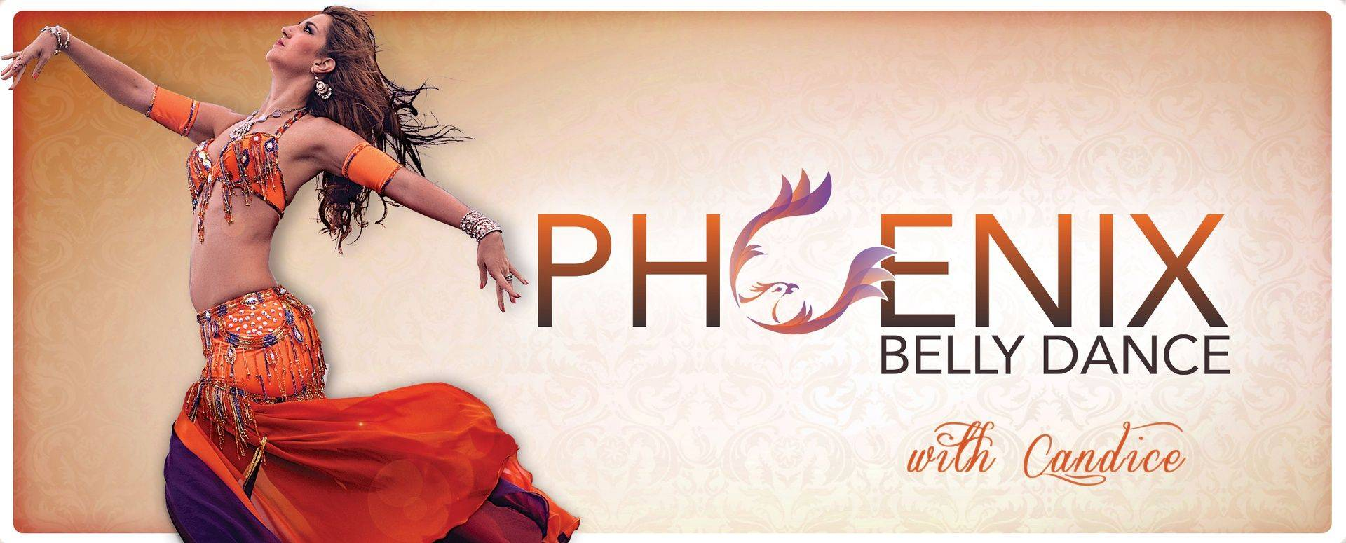 Orange Header for Phoenix Belly Dance Classes, Performances, and Costumes