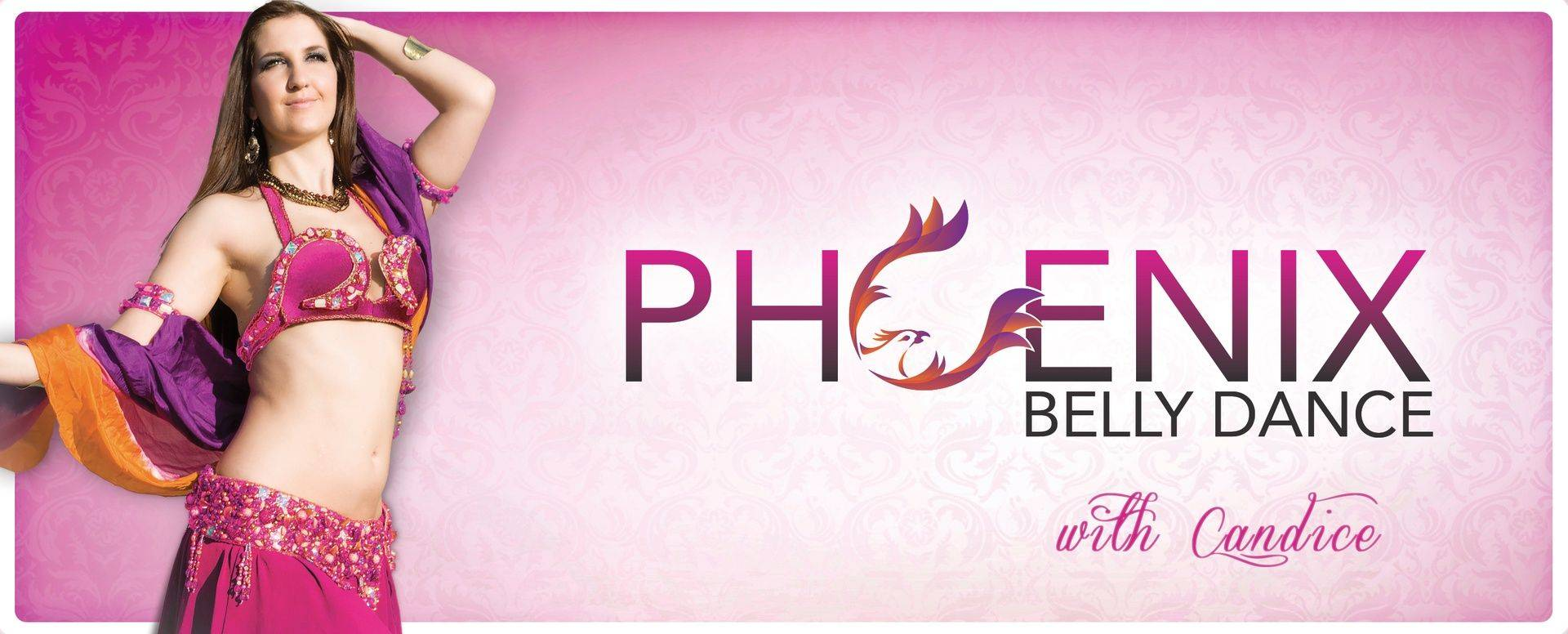 Pink Header for Phoenix Belly Dance Classes, Performances, and Costumes