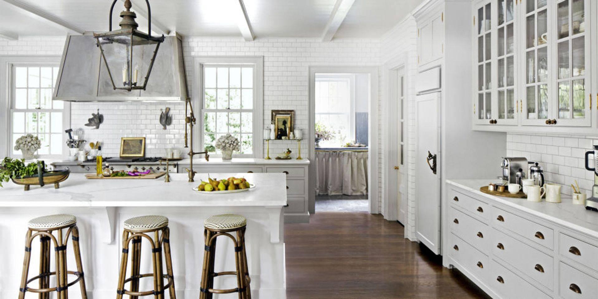 Best Kitchen Appliances 2018 White Modern Cabinets dark Floors Houston TX
