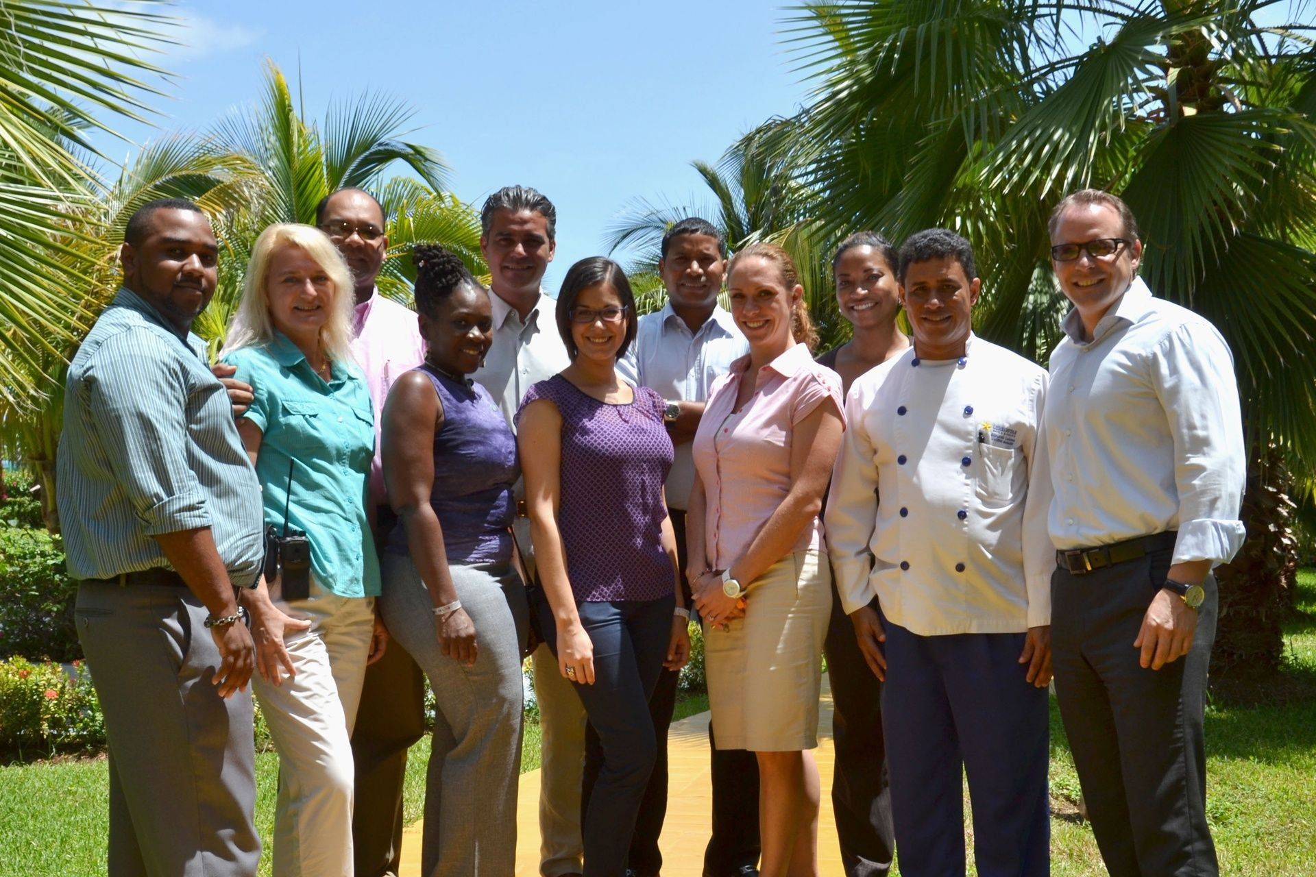 Team at Iberostar Jamaica after earning Green Globe certification with guidance from ECHOS consulting