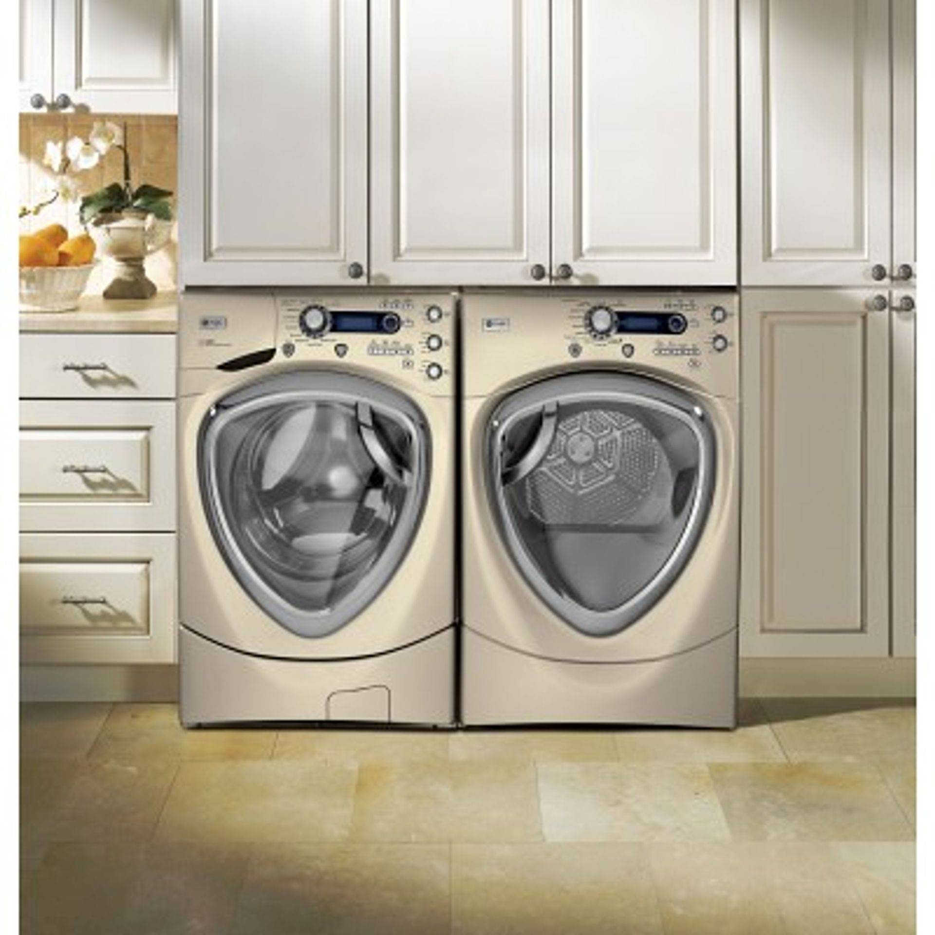 side by side front load washer and dryer