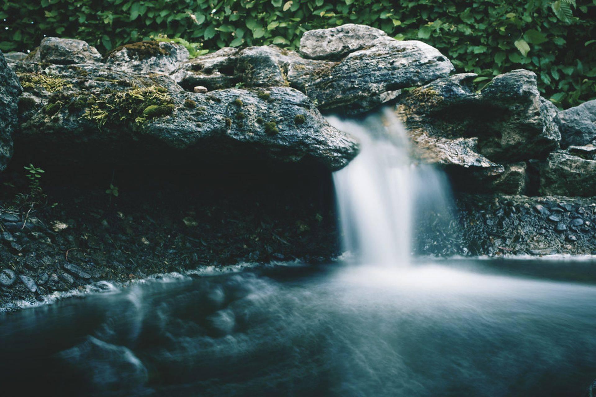 peace full calm waterfall