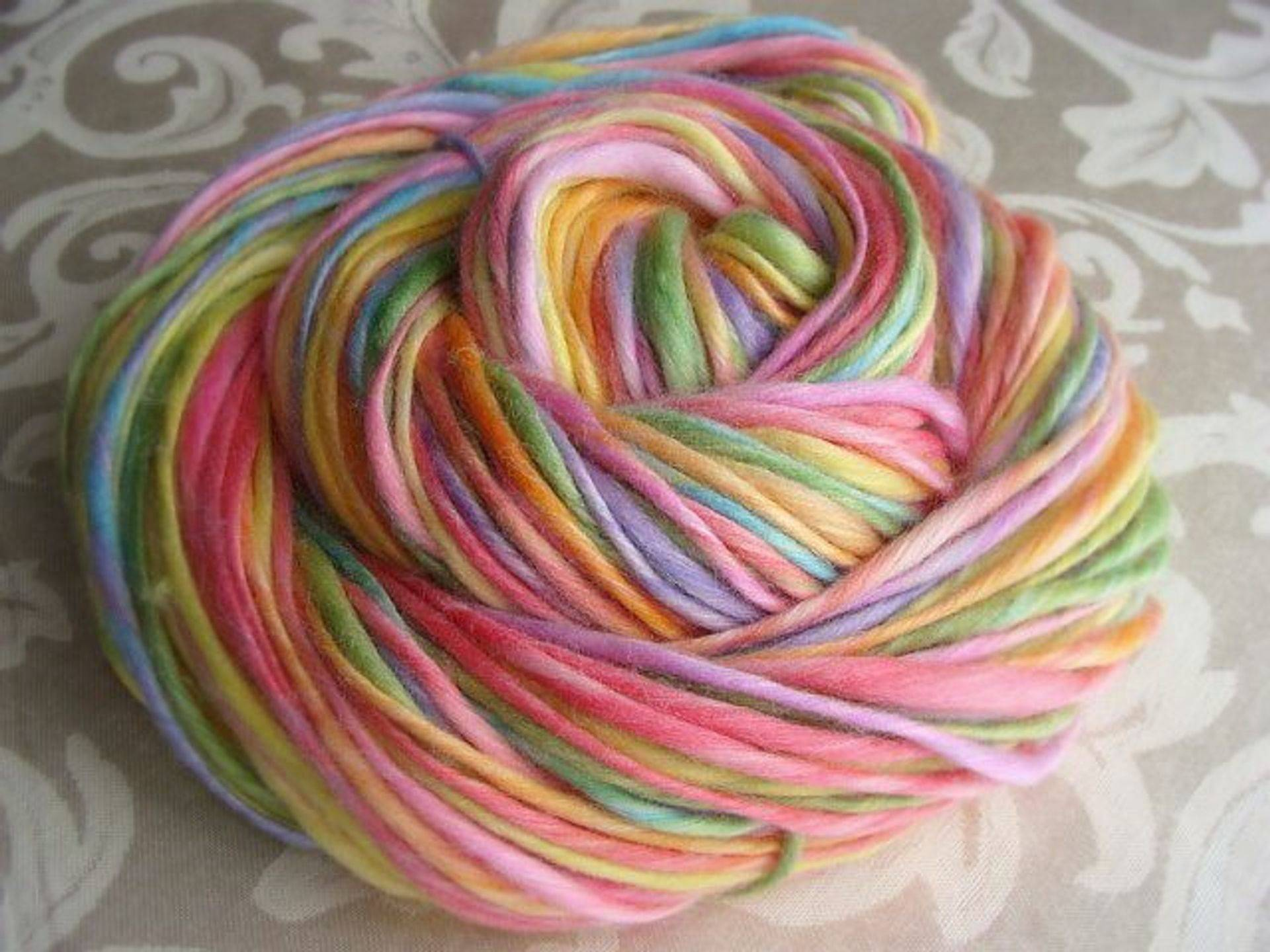Handspun Rainbow Yarn