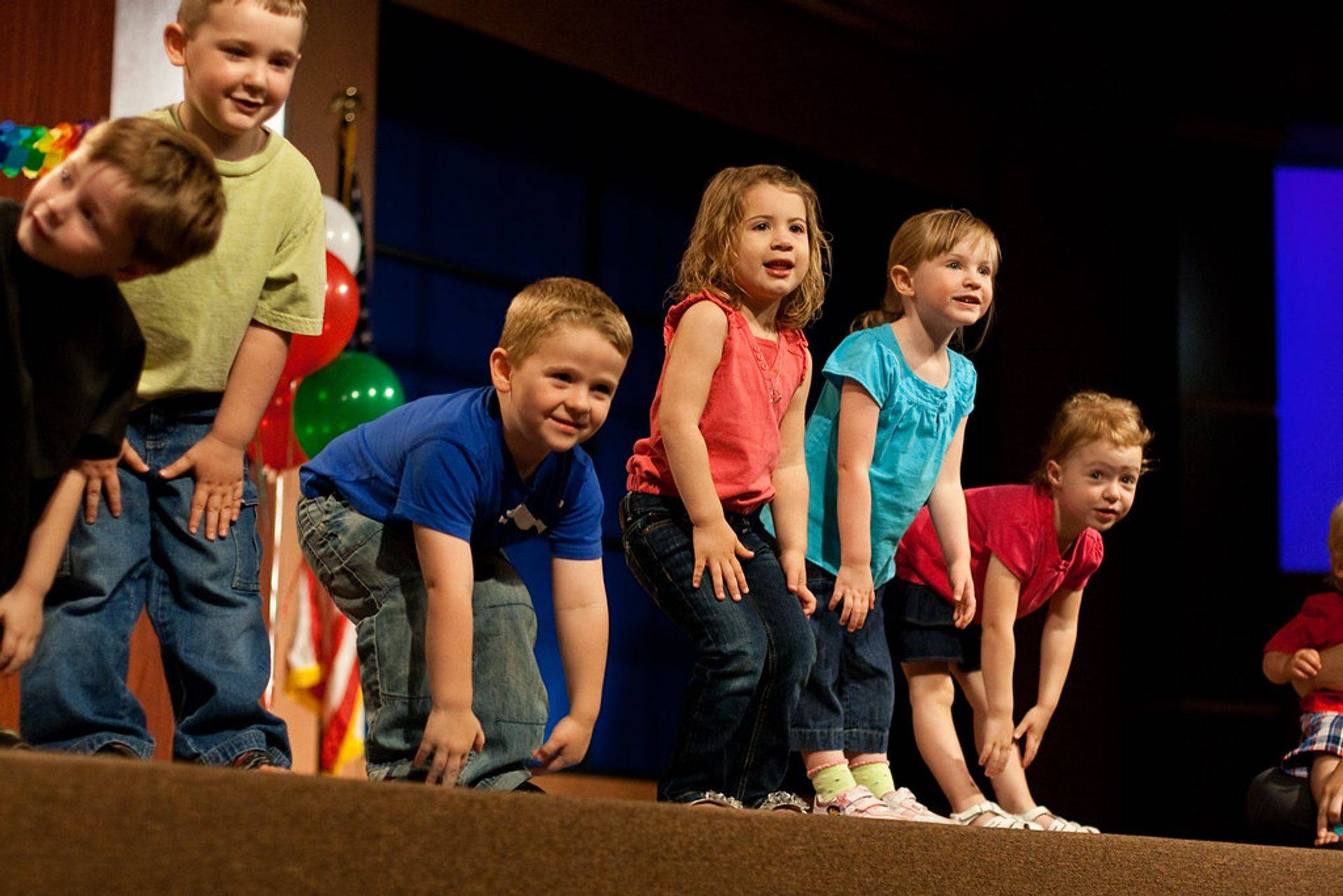 children at a program