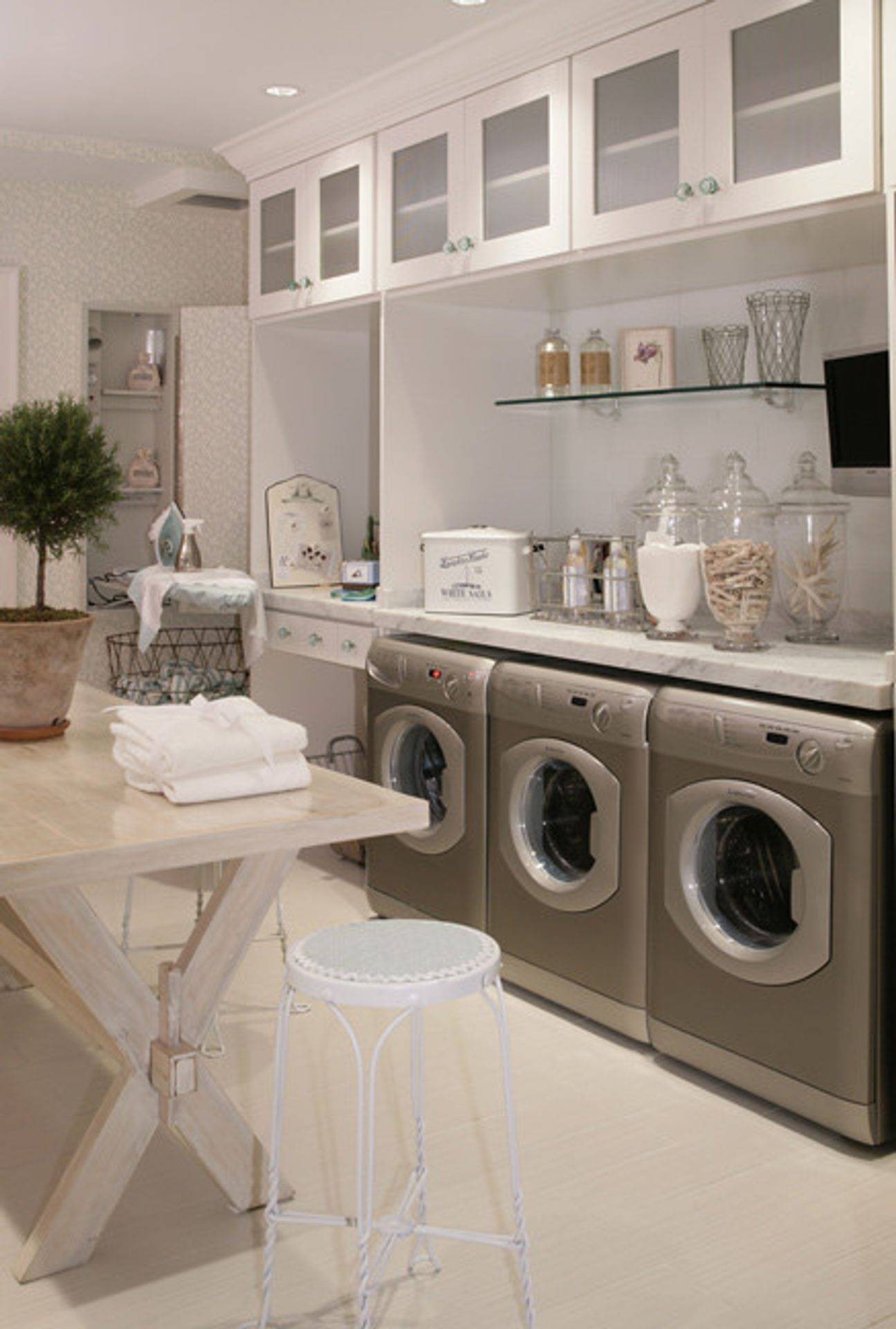 Carrara Marble laundry top
