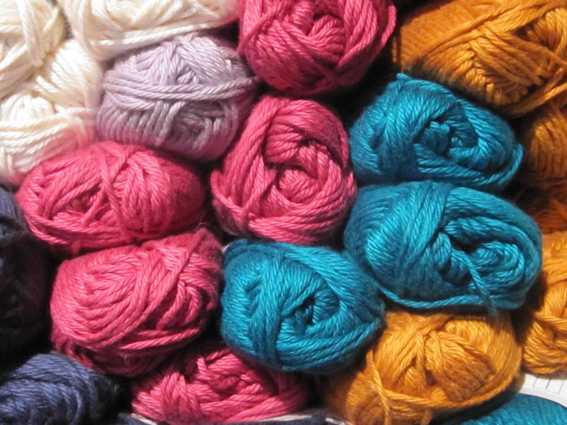 Colourful Spools balls of Yarn