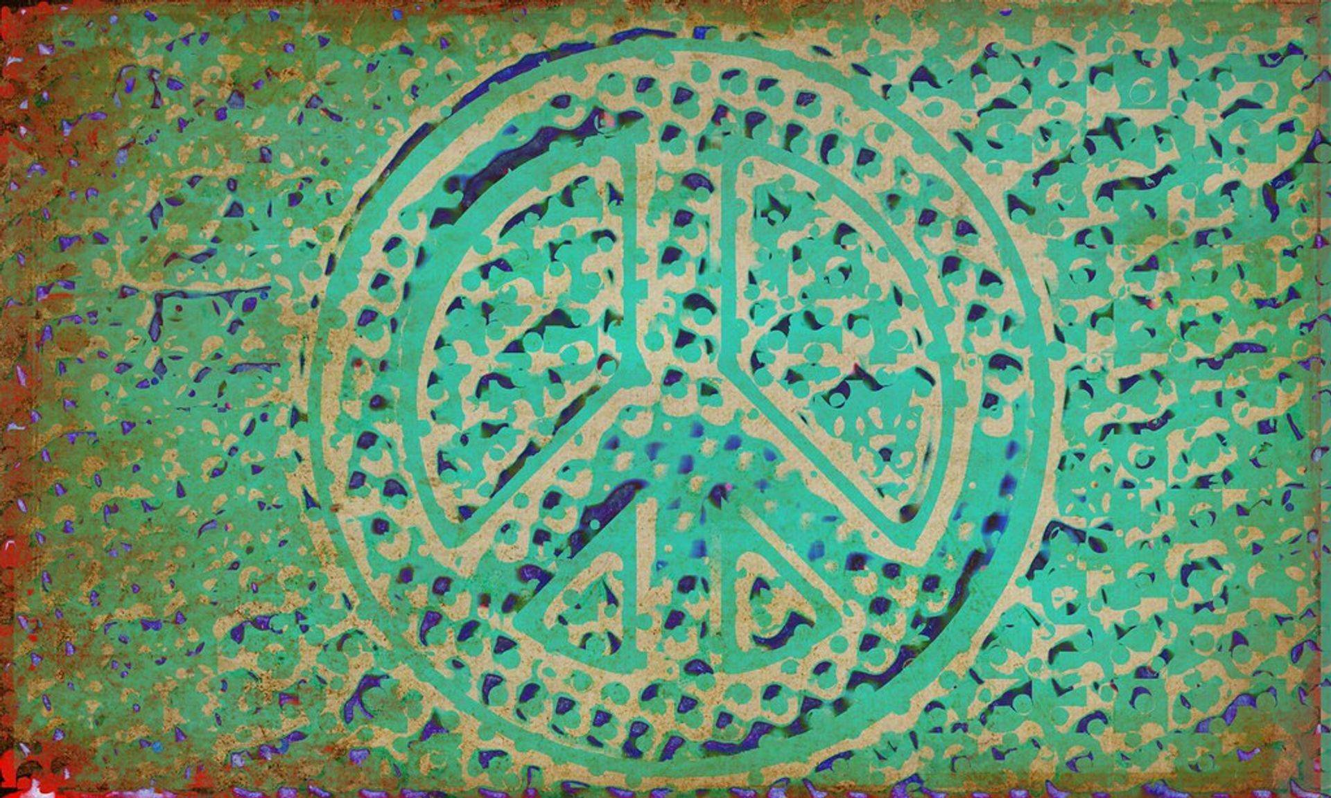 Peace Symbol in colour