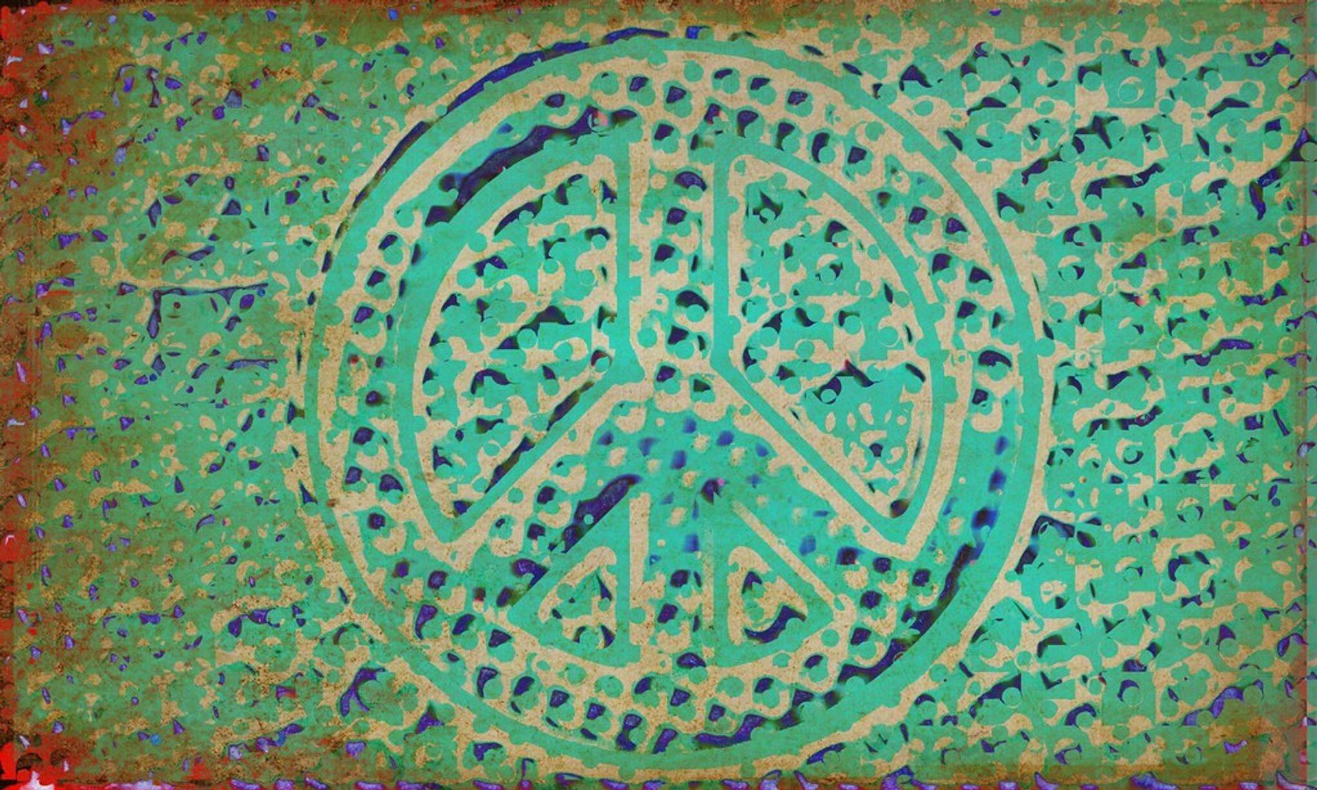 Peace Symbol in colour