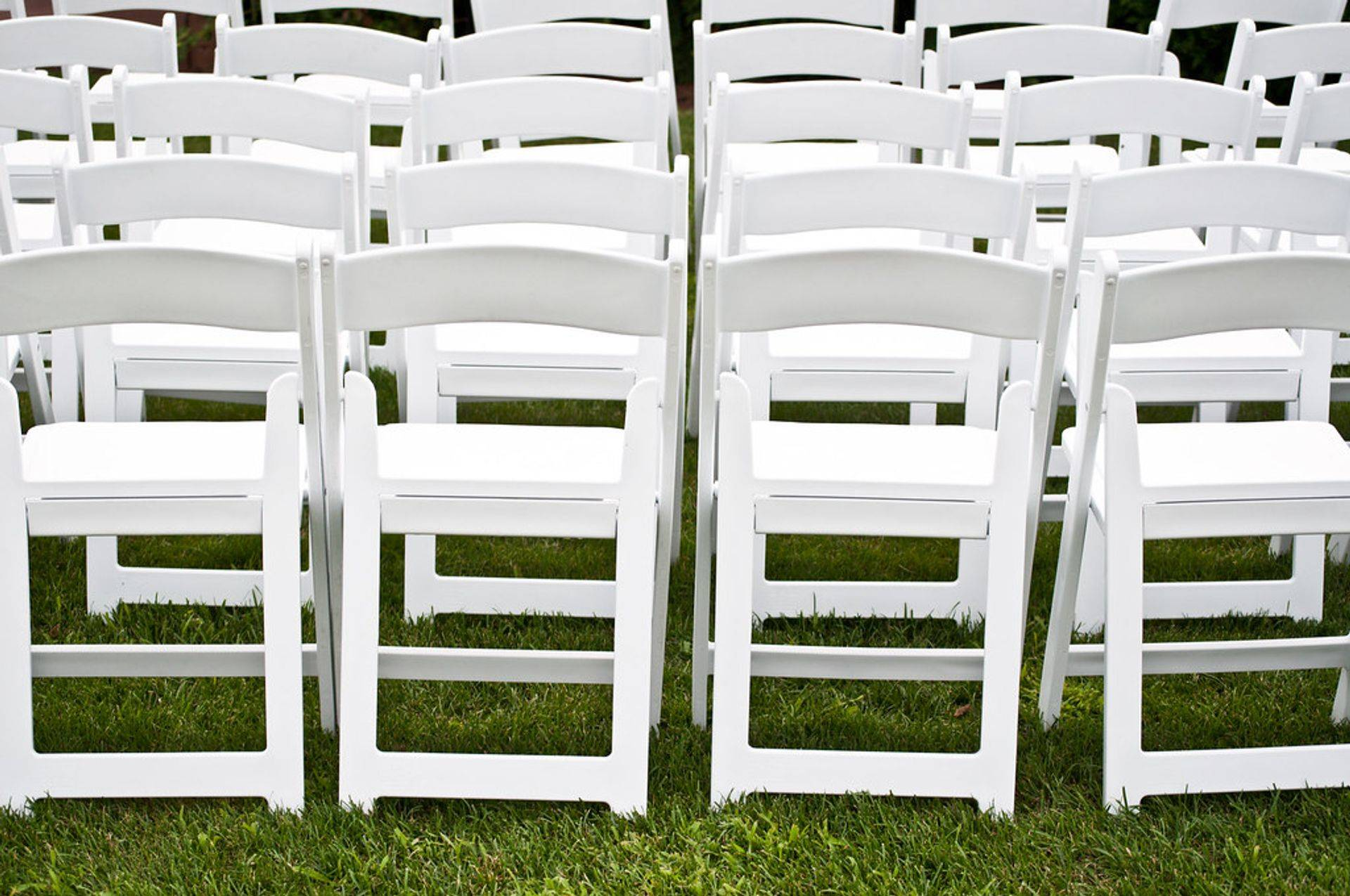 white wedding chair rental