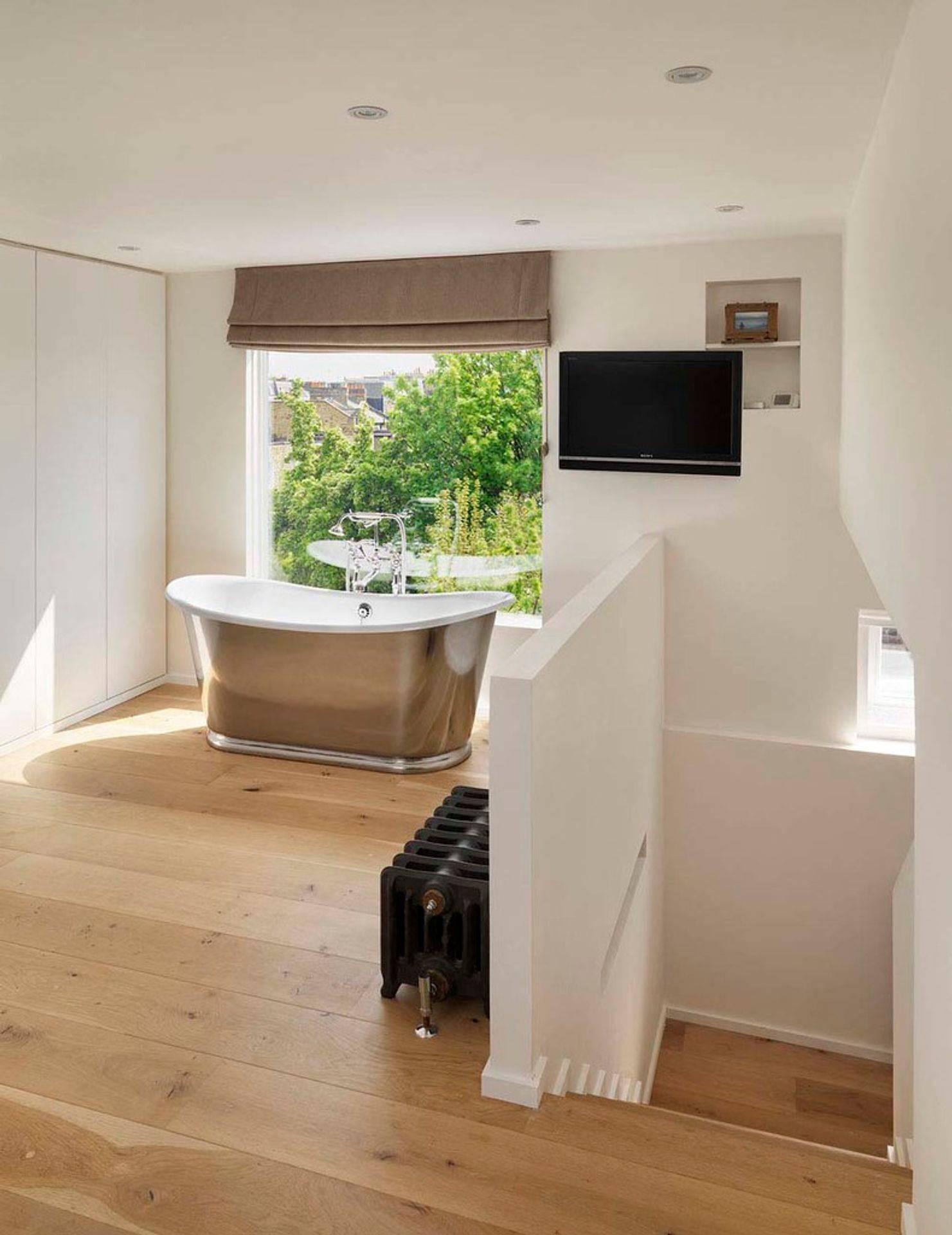 loft conversion, bath with a view
