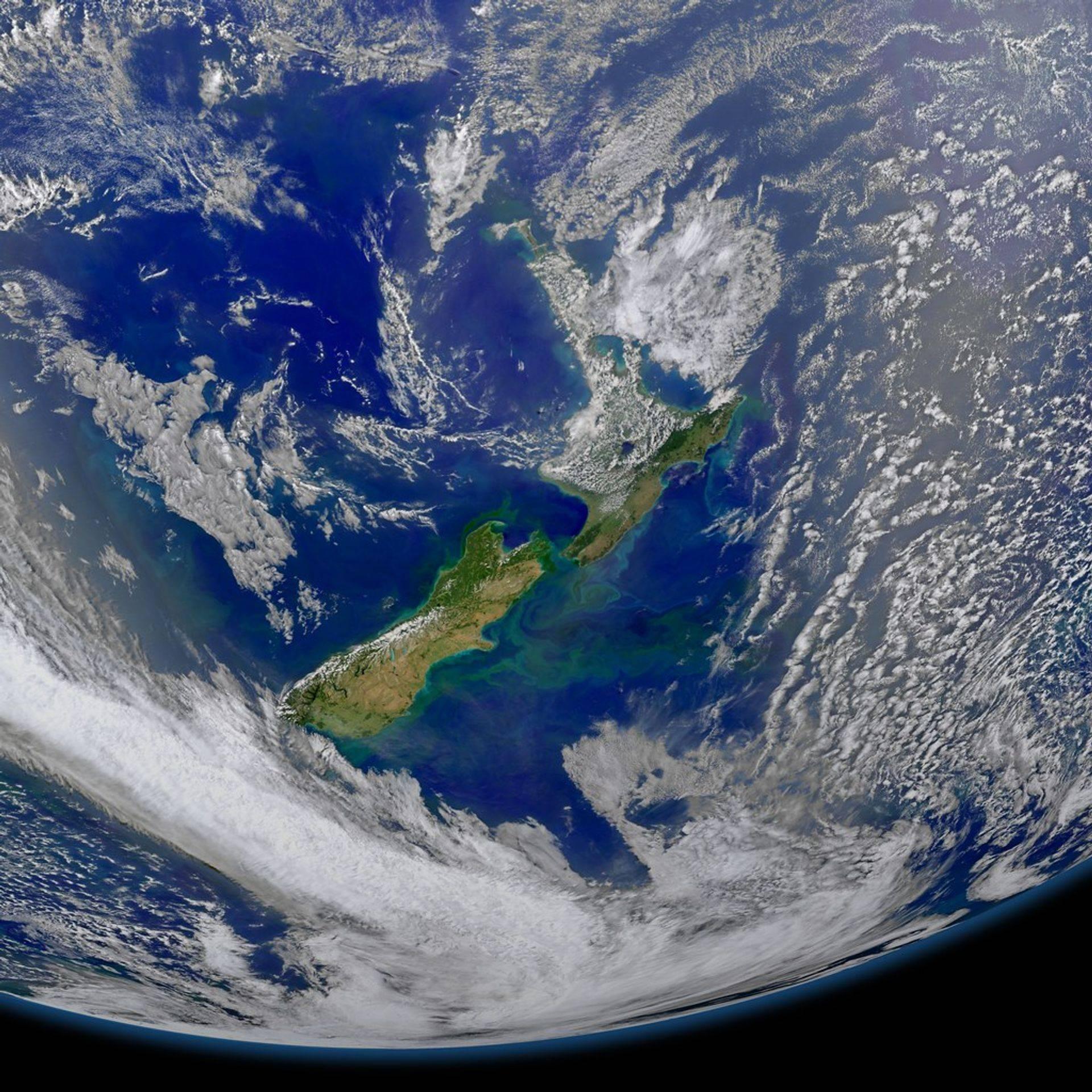 Satelite view of Taihape New Zealand
