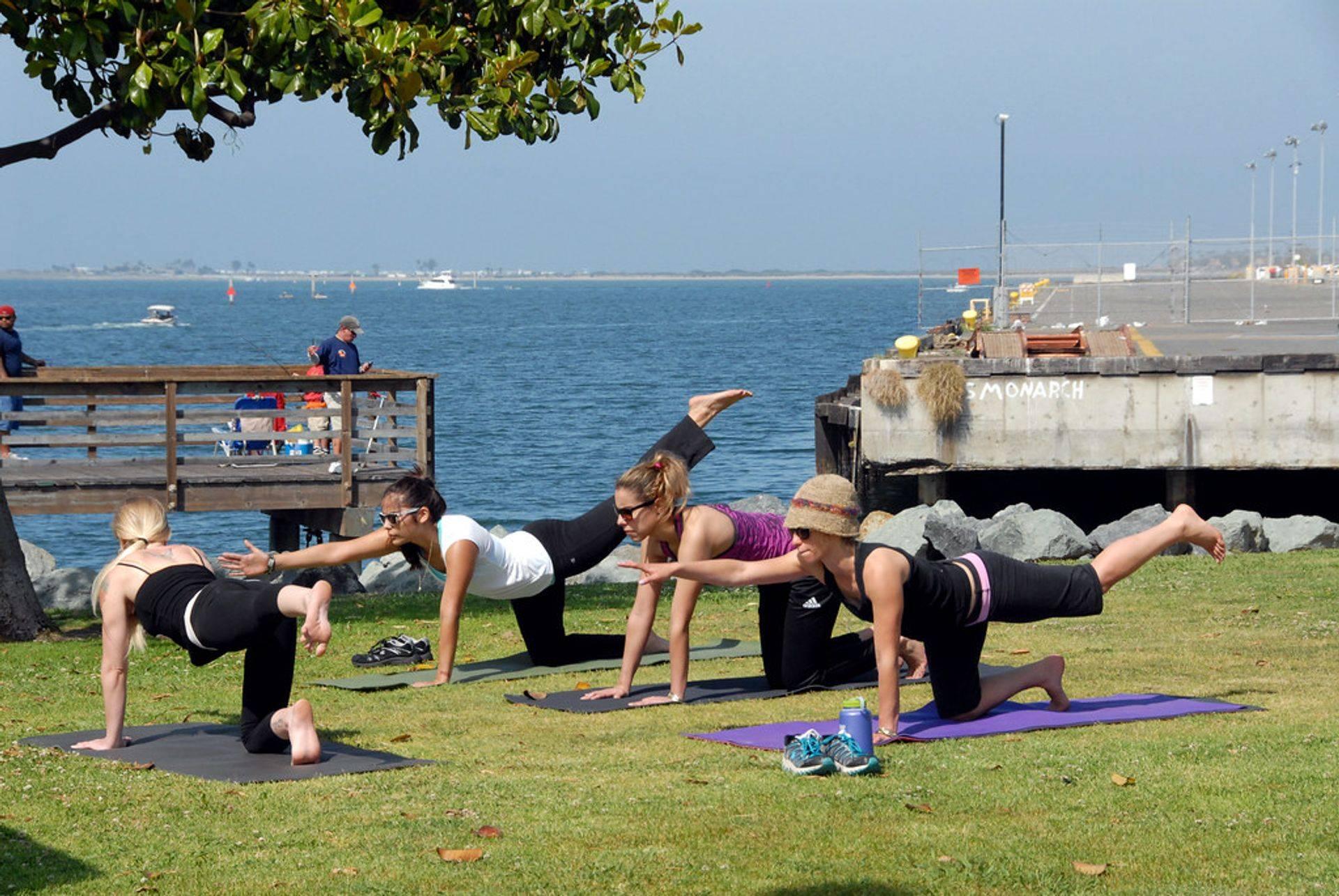 Pilates in 't park, wat willen we nog meer?