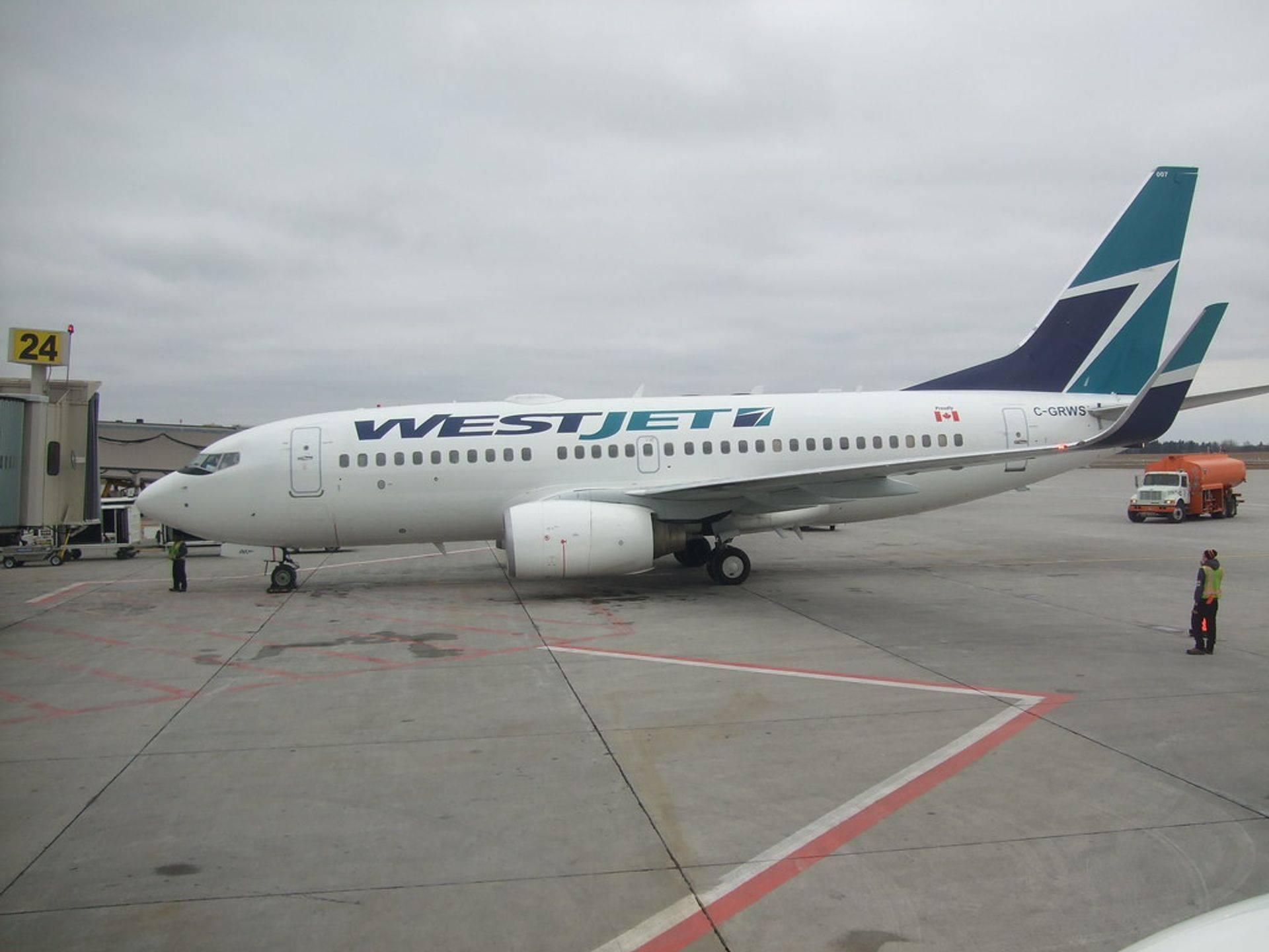 West Jet Departing YVR