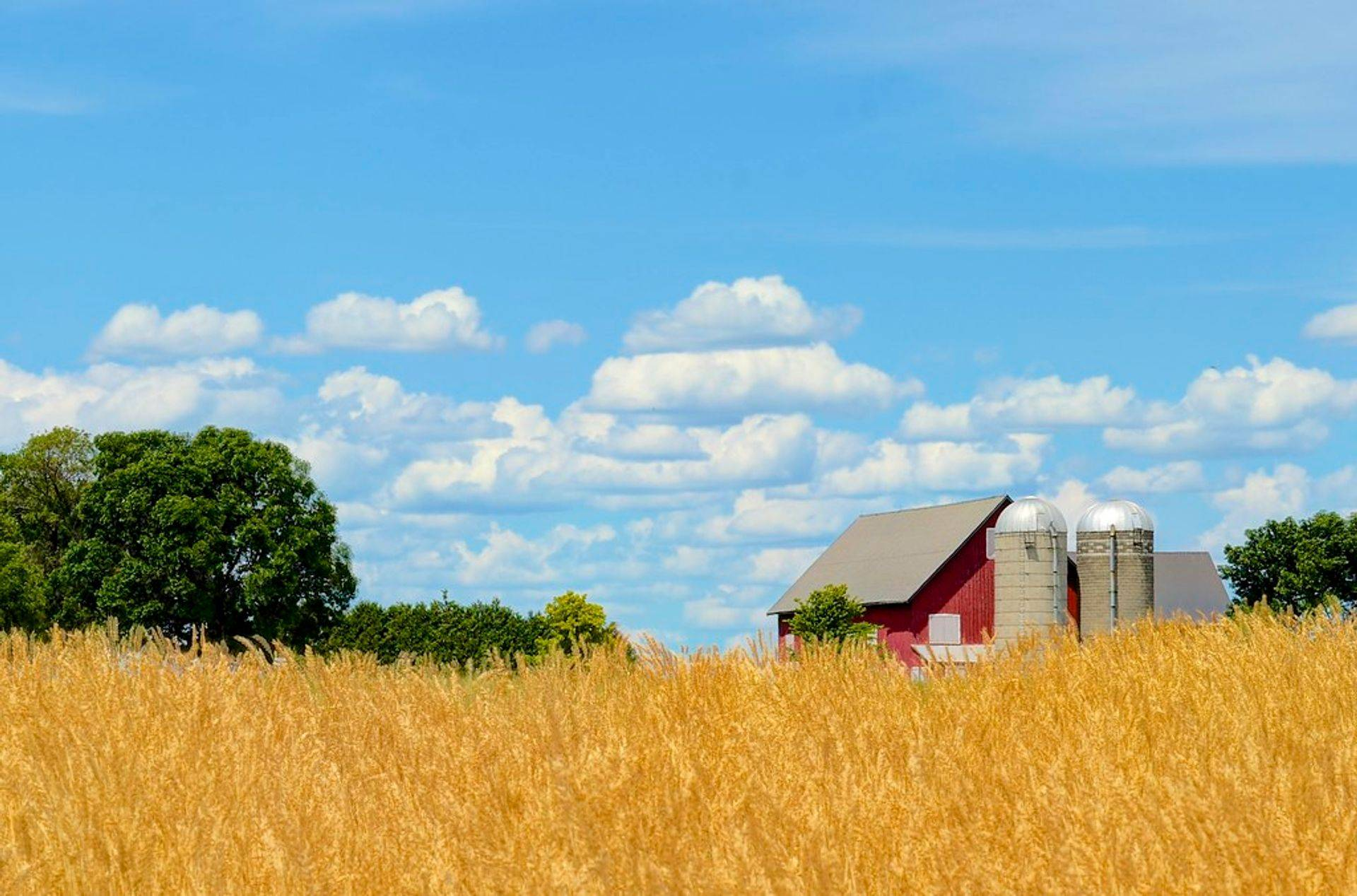pituresque farm on the plains