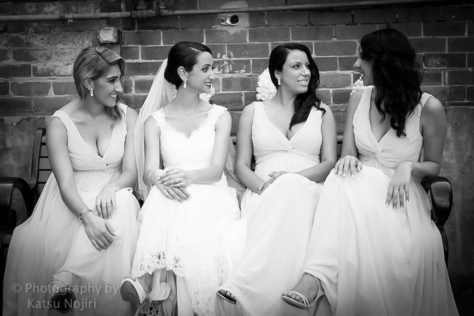 Bridesmaids Party with Bride