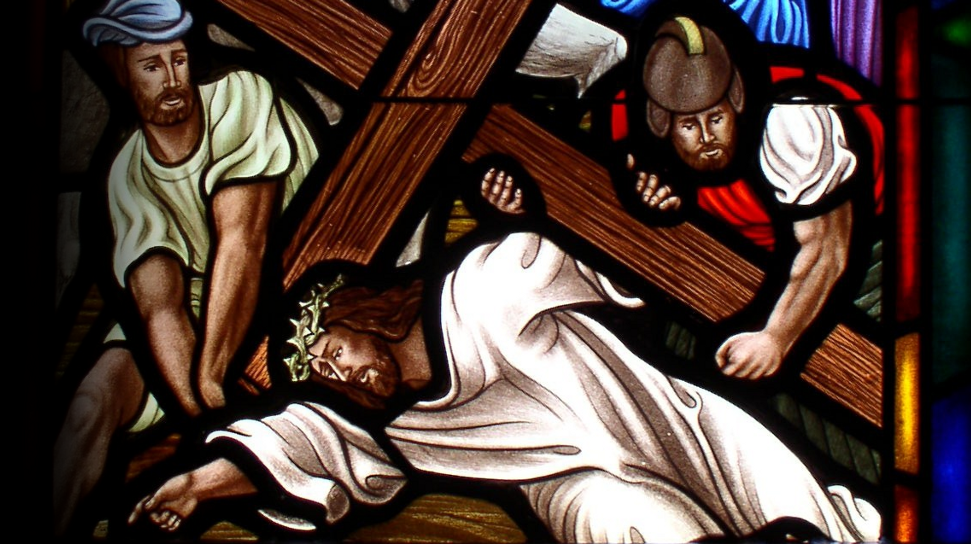 Stained glass window for church