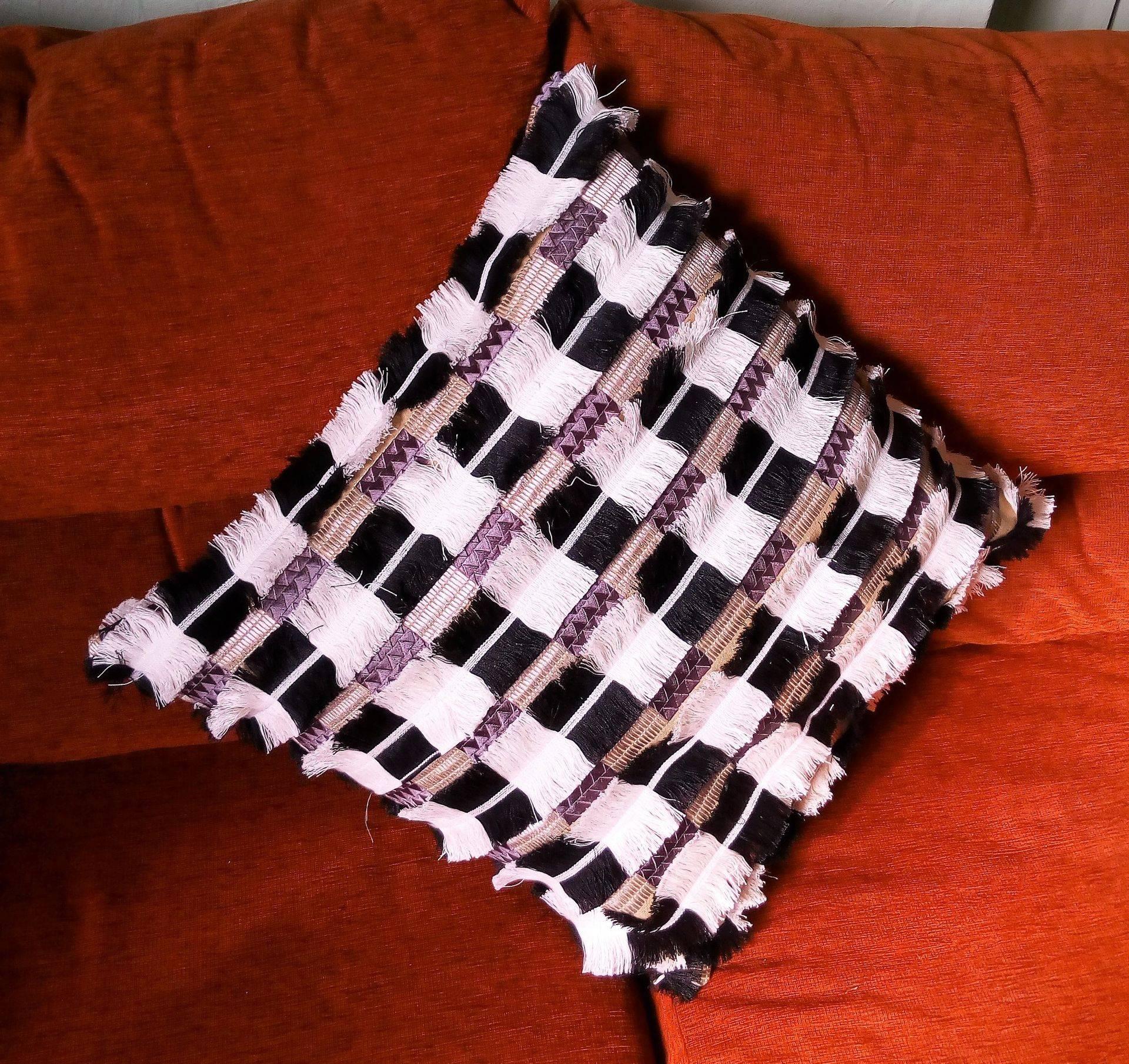 Fringed Fabric Cushion Cover