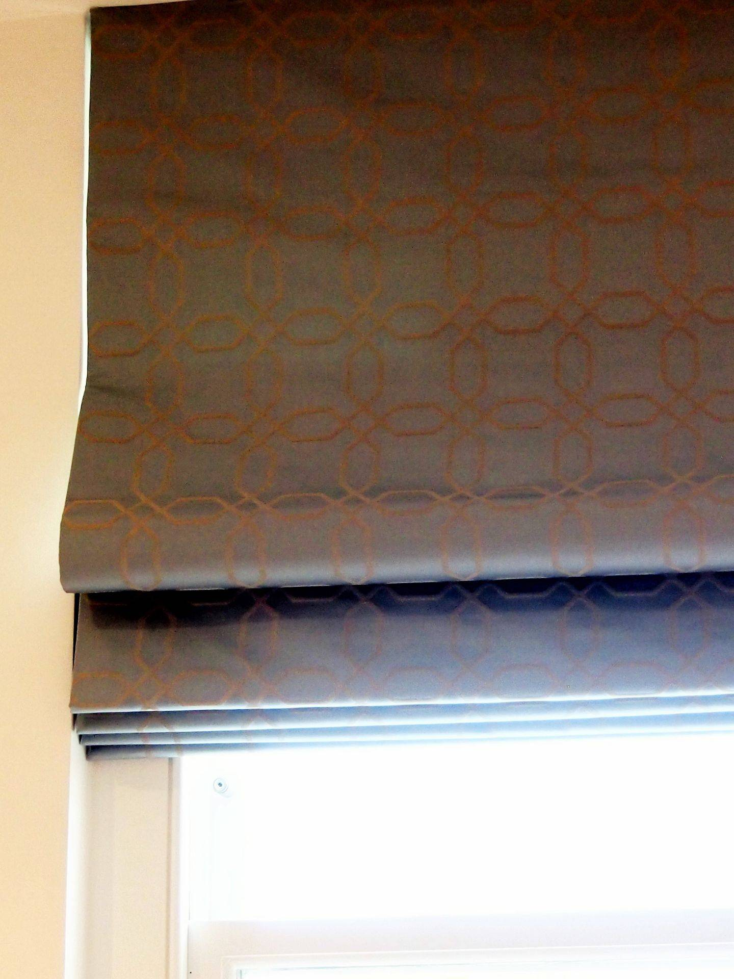 Roman Blind made with bonded lining (our standard)