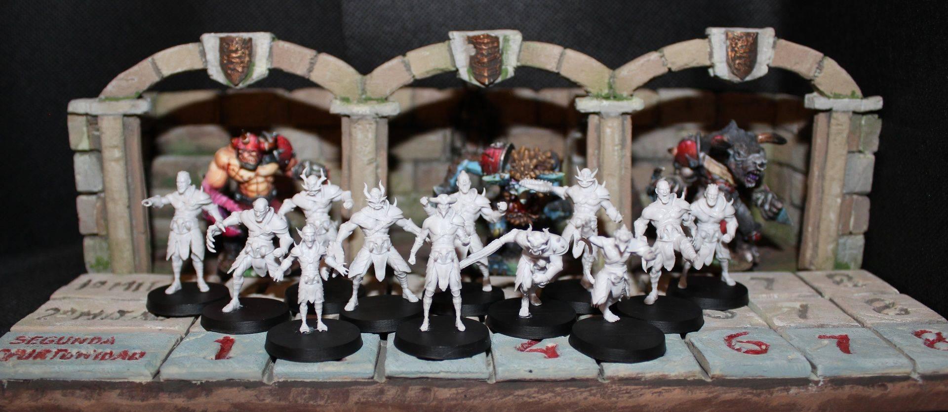 Blood bowl Miniatures 3D Print - 3D Sculpt - Resin Cast - Paint miniatures - Z-brush - Fantasy Football - Crowdfunding Manager - Online Store - Wargames