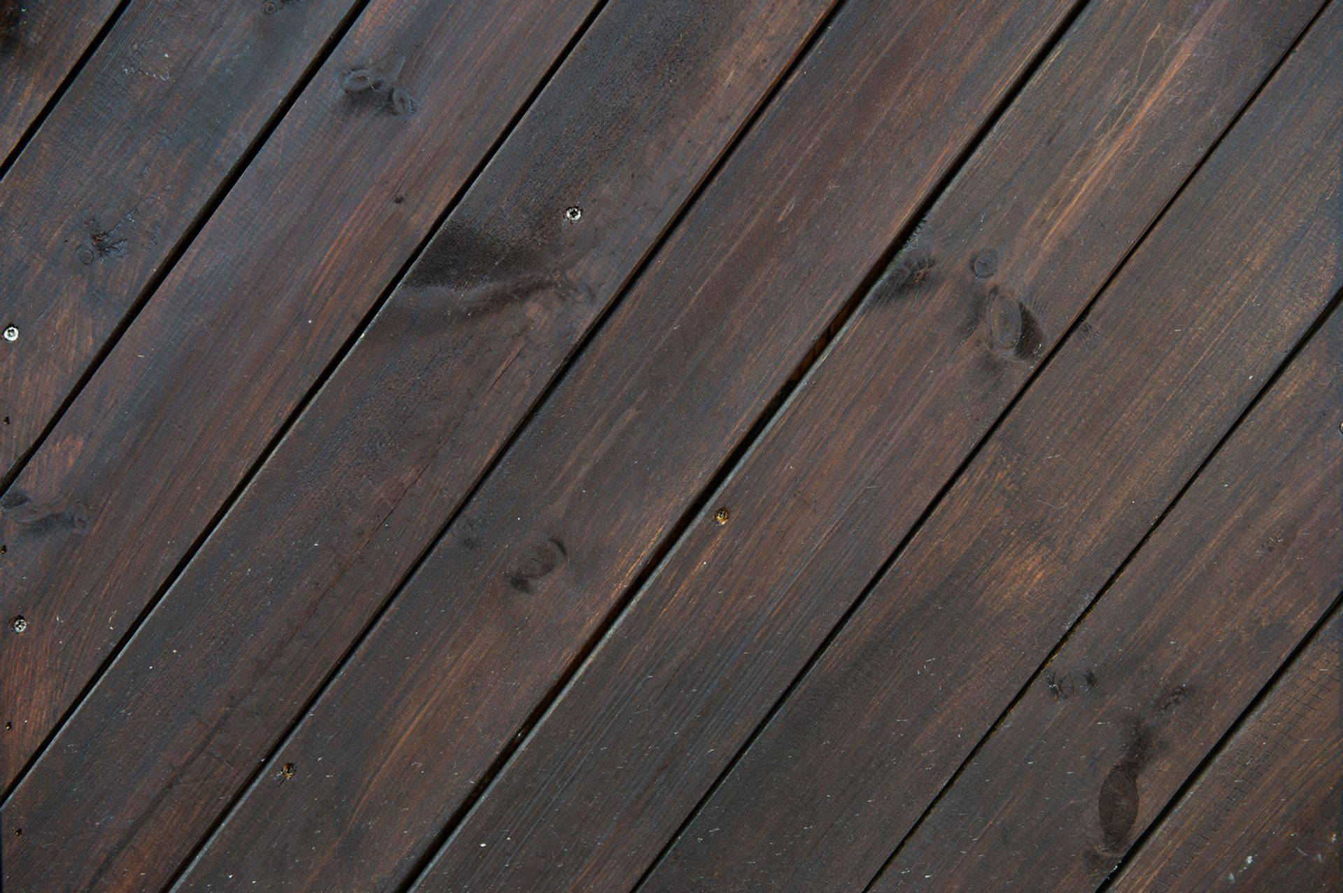 A sample of a wooden deck