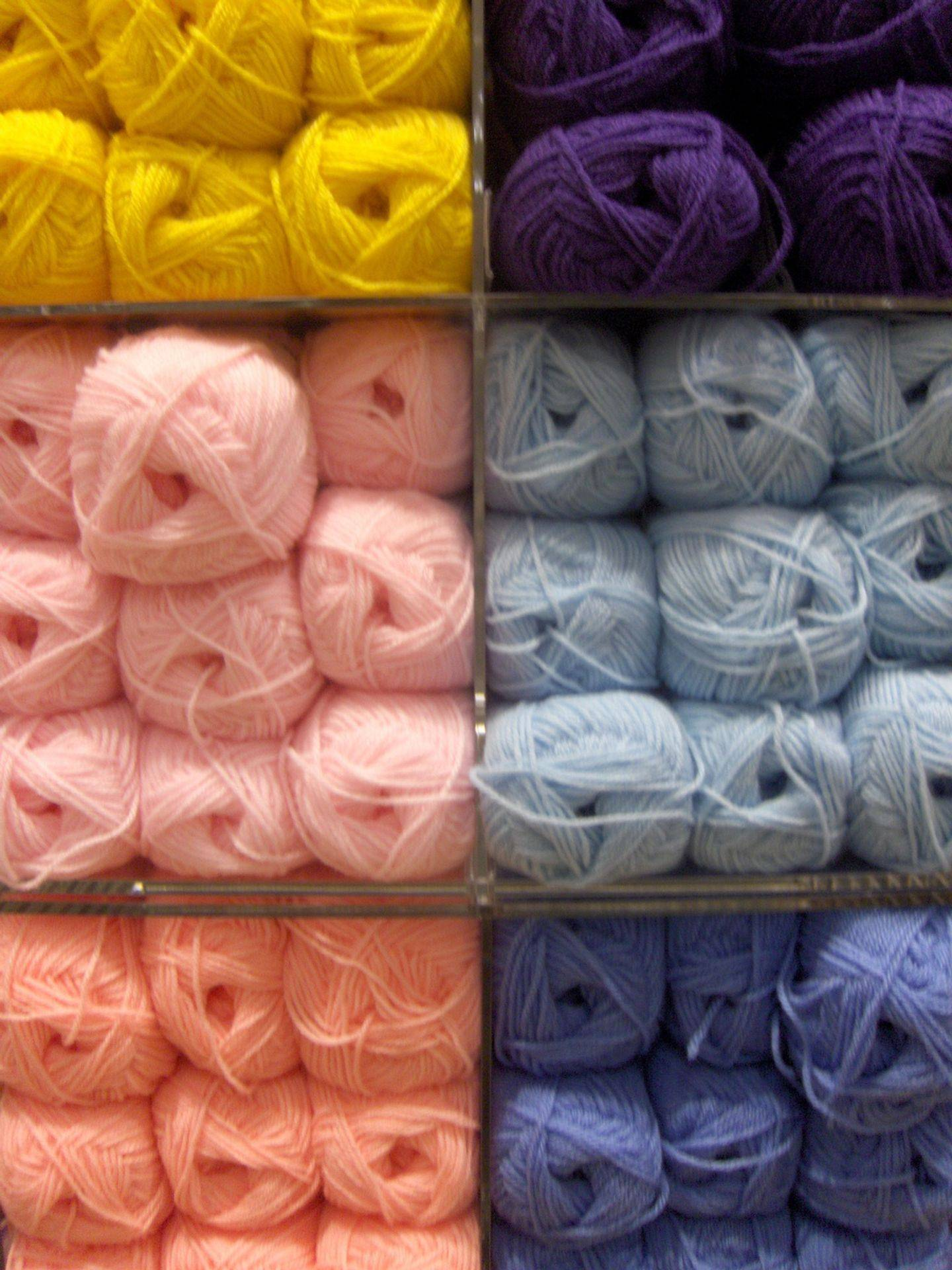 Various colours of Yarn