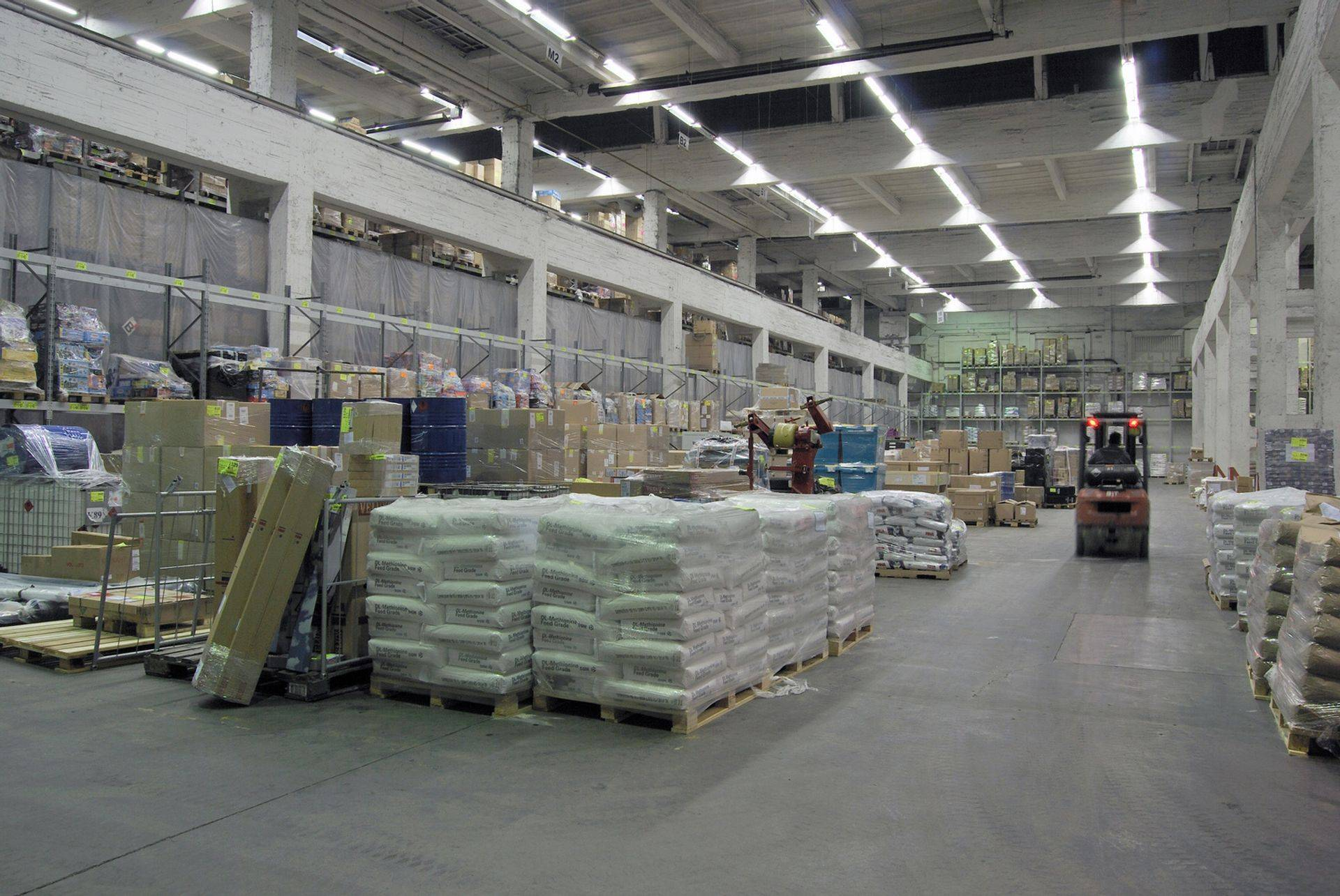 Warehouse for temporary storage.