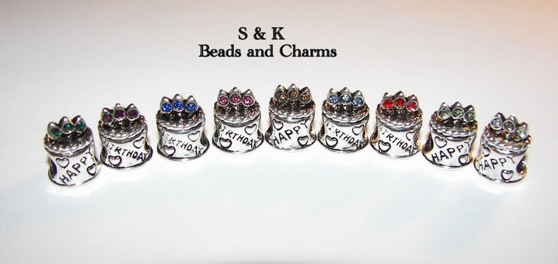 Happy birthday cake charms to fit pandora from S&K beads and Charms