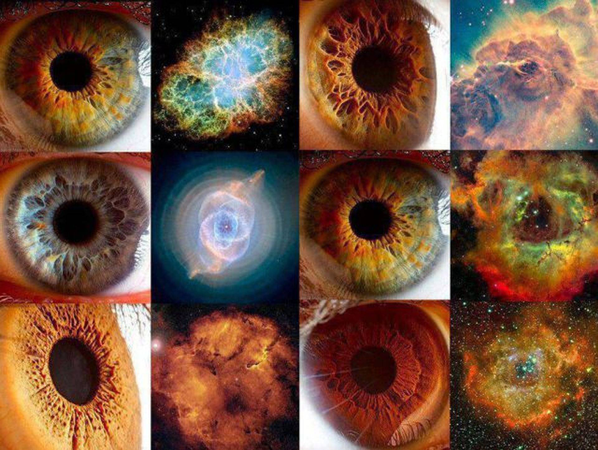eye and star galaxies macrocosm microcosm universe is mental
