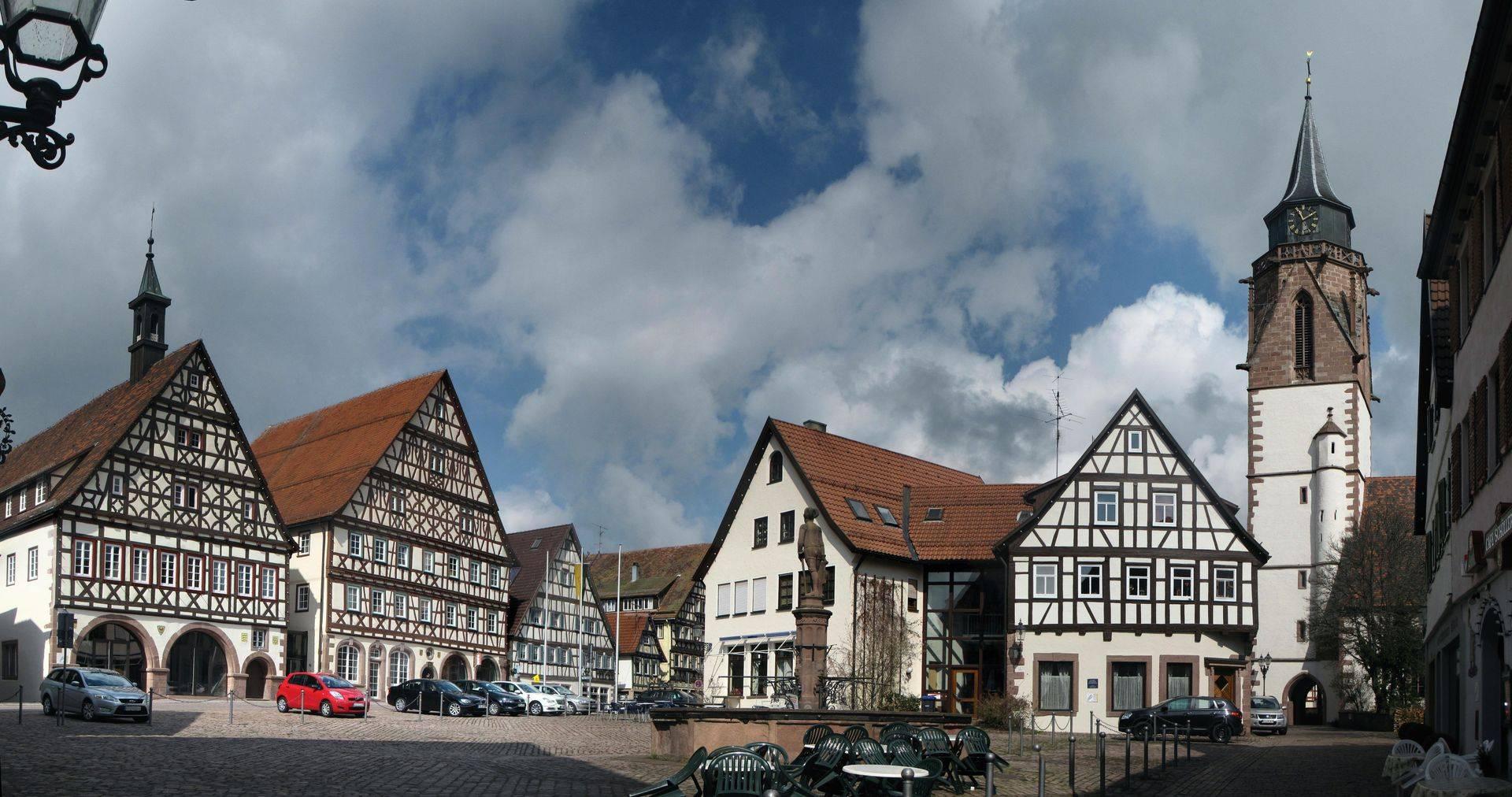 Marktplatz in Dornstetten