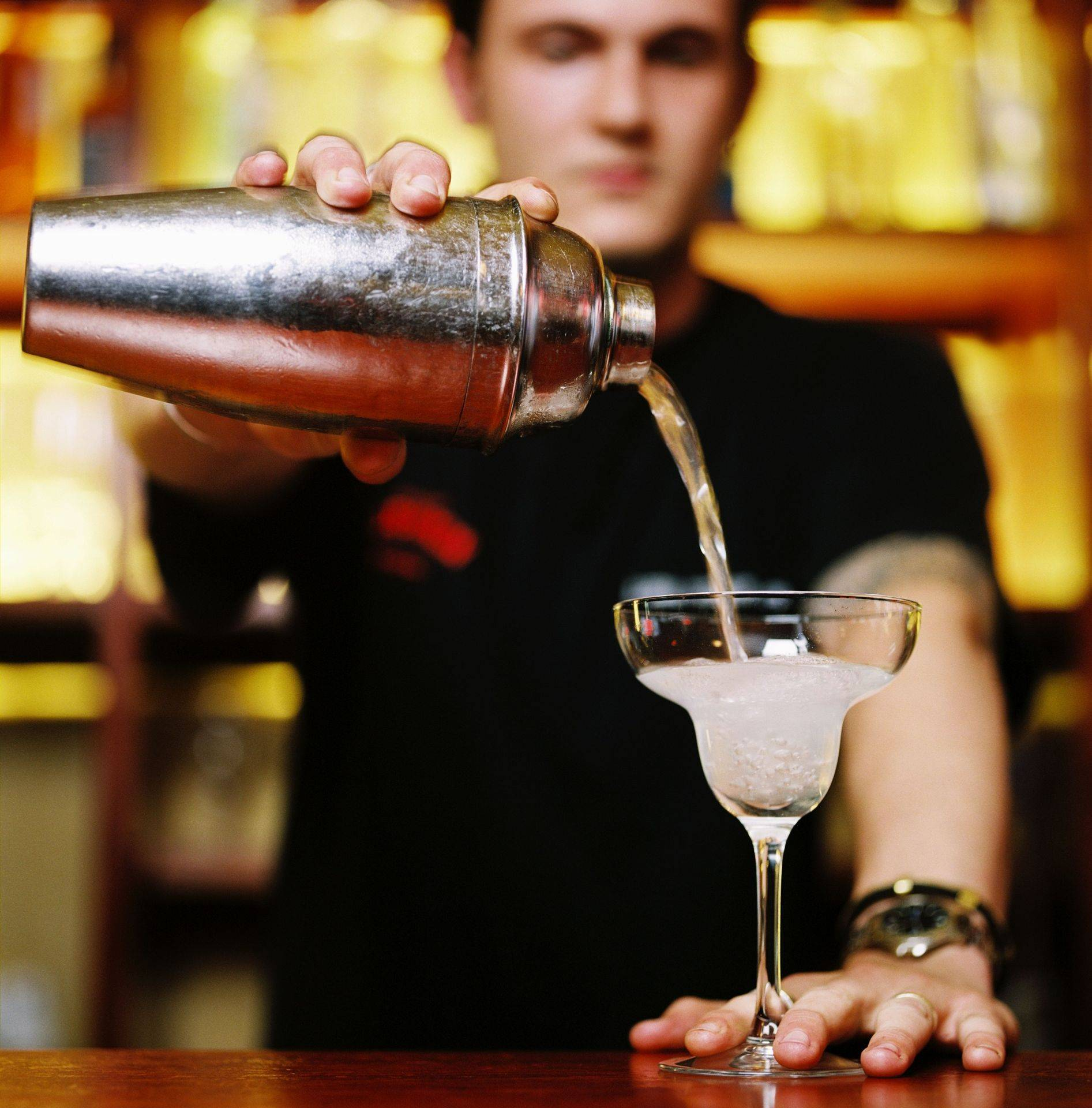 Flair Bartender making cocktail