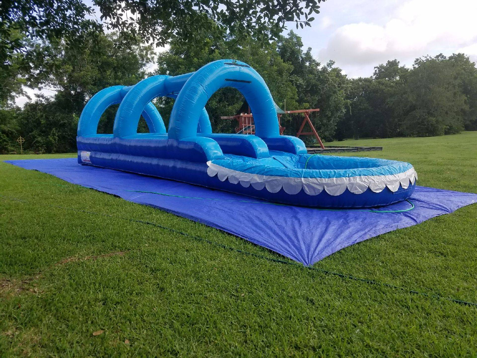 33' Long Double Lane Slip And Slide