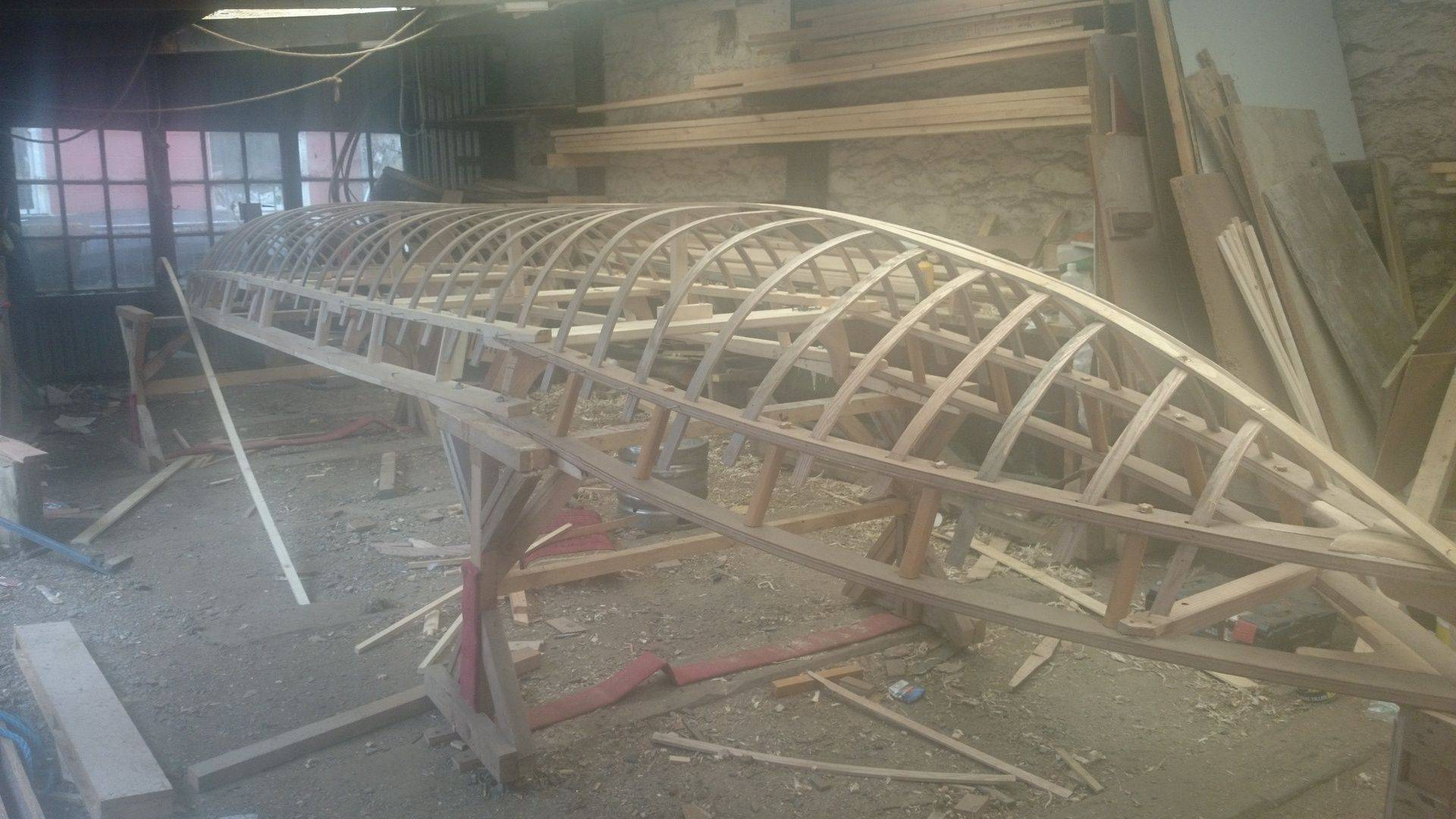 Currach being made in Cork