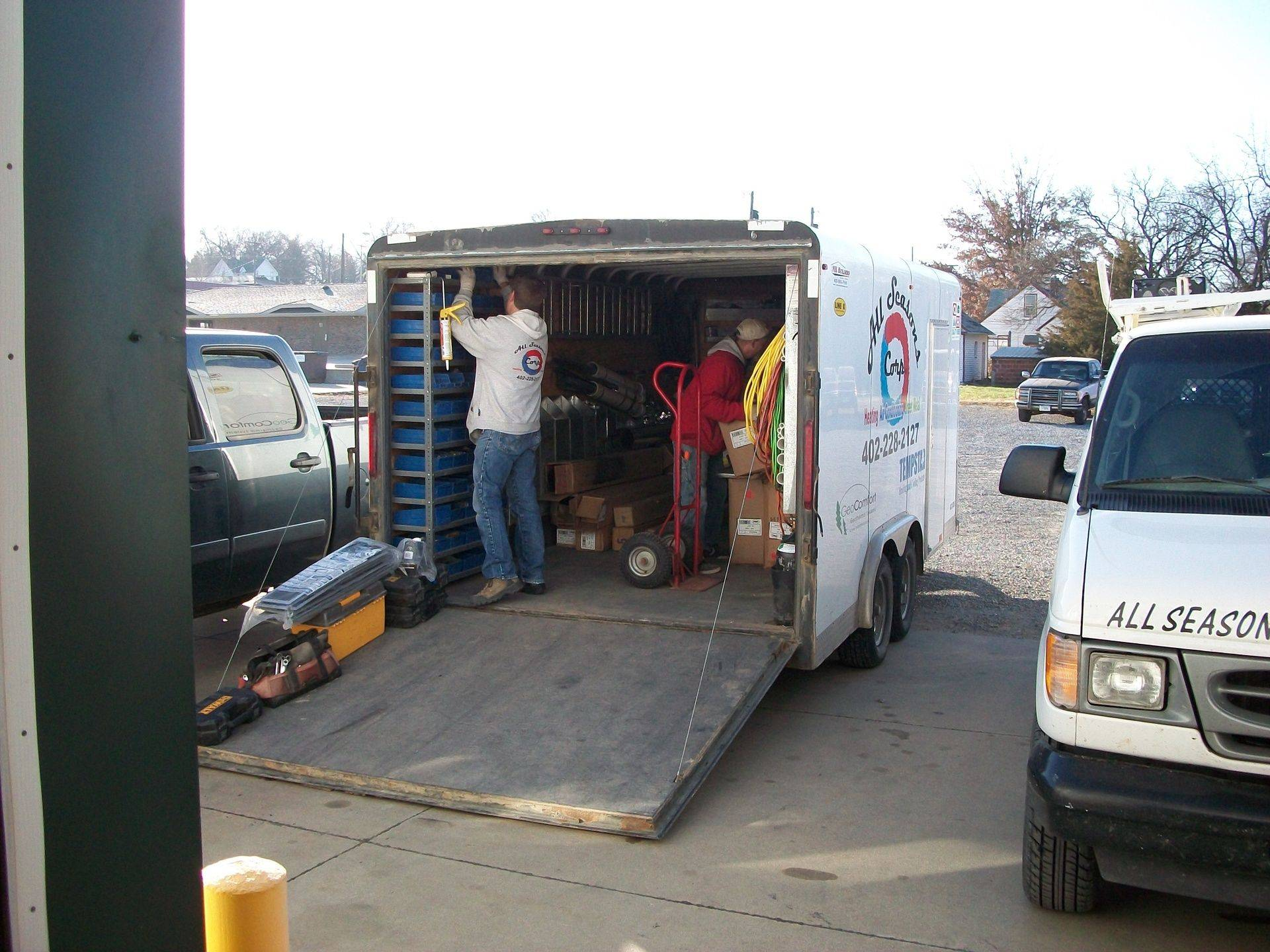 Loading the All Seasons Corp Trailer