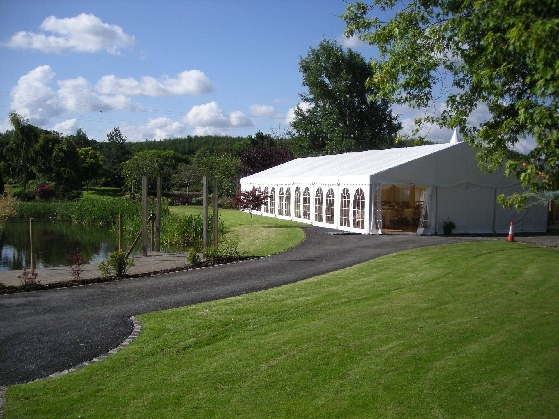 Long Marquee tent end of